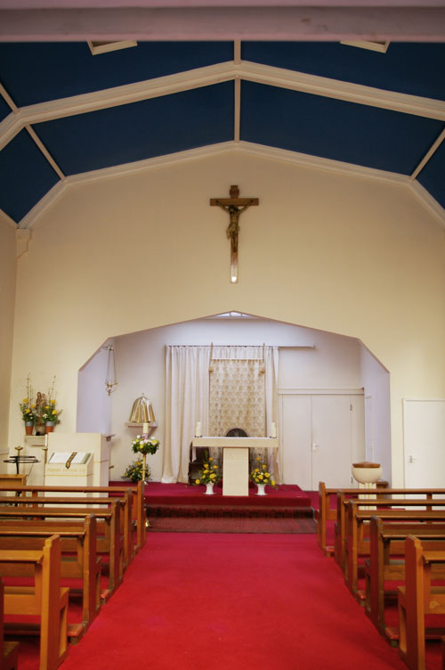 Interior view of St Michael's Roman Catholic Church, Tetbury.